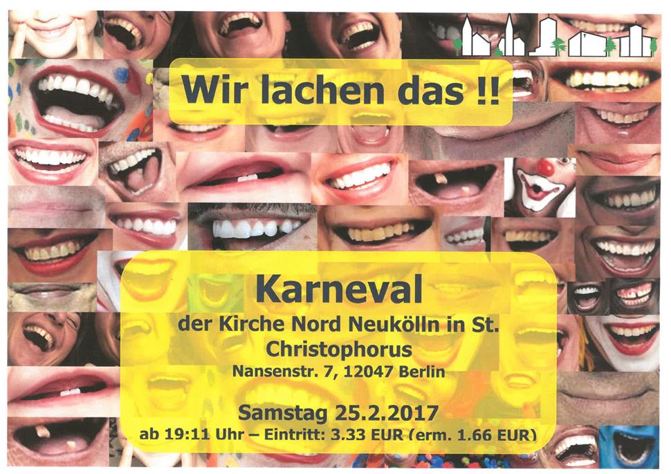 Karneval     Wir lachen das!!! @ St. Christophorus | Berlin | Berlin | Deutschland