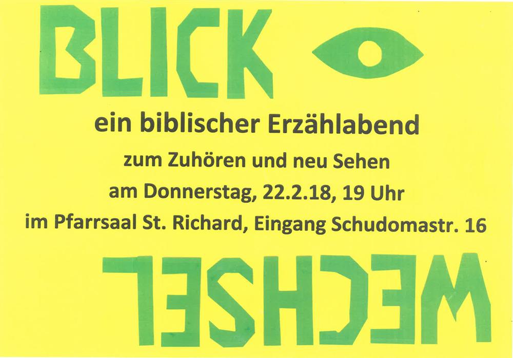 biblischer Erzählabend @ St. Richard | Berlin | Berlin | Deutschland