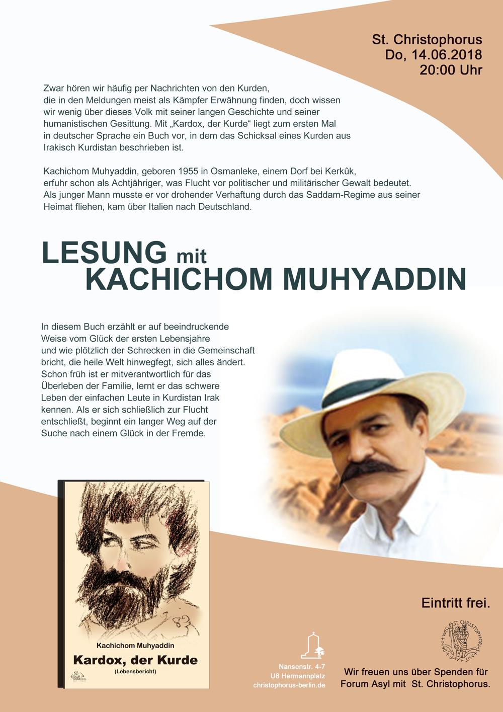 Lesung mit Kachichom Muhyaddin
