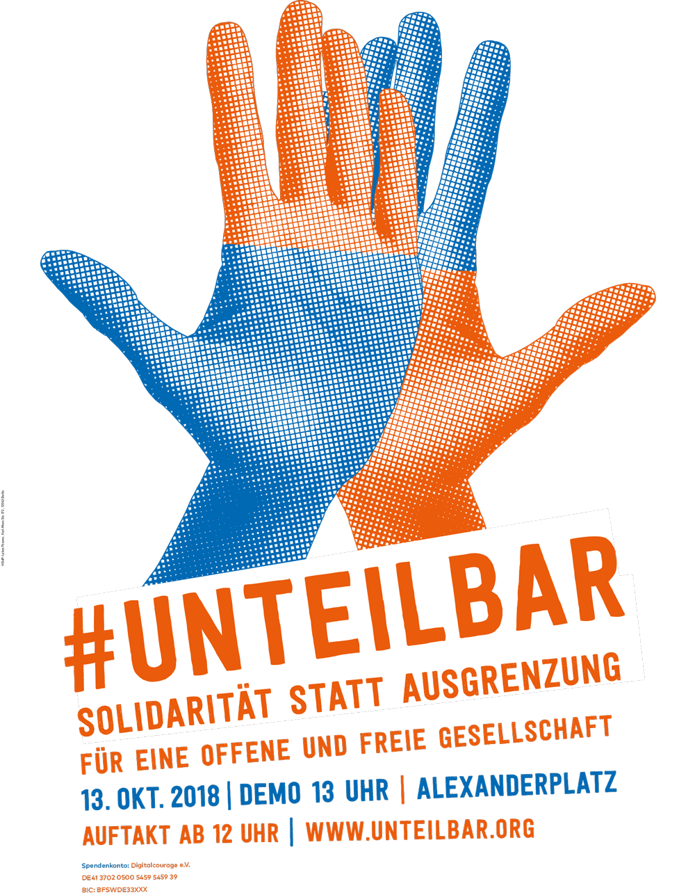 #unteilbar - Solidarität statt Ausgrenzung @ Alexanderplatz
