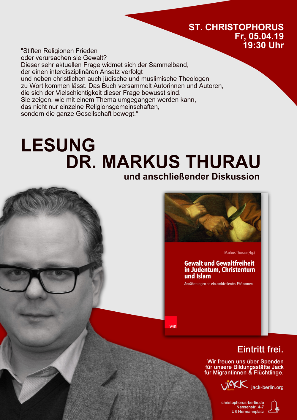Lesung Markus Thurau @ St. Christophorus | Berlin | Berlin | Deutschland