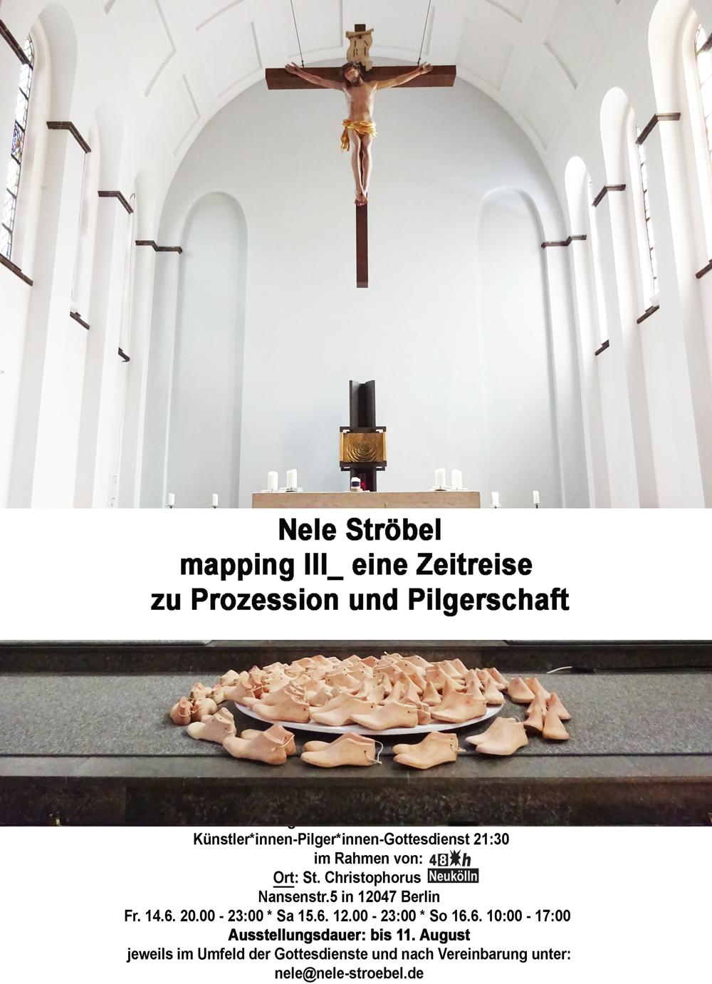 Nele Ströbel - mapping III_ eine zeitreise zu  prozessionen und pilgerschaft  in vergangenheit, gegenwart und zukunft @ St. Christophorus | Berlin | Berlin | Deutschland