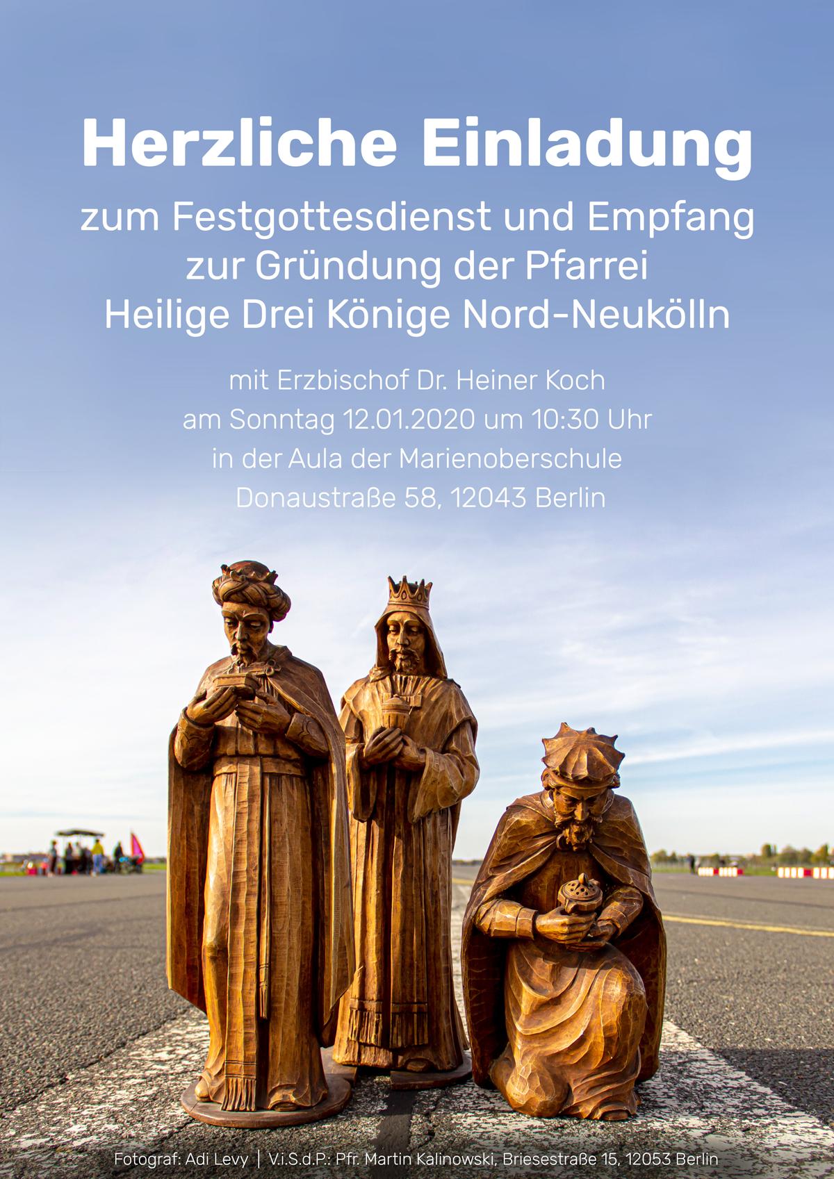 Festgottesdienst zur Gründung der neuen Pfarrei @ Marienschule, Aula   Berlin   Berlin   Deutschland